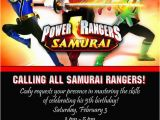 Personalized Power Rangers Birthday Invitations Giftsbyrb On Etsy