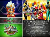 Personalized Power Rangers Birthday Invitations Power Ranger Birthday Invitations Bagvania Free