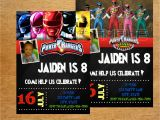 Personalized Power Rangers Birthday Invitations Power Rangers Birthday Invitation Digital File by Munchdoodles