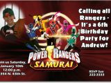 Personalized Power Rangers Birthday Invitations Power Rangers Birthday Invitations Ideas Bagvania Free