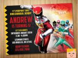 Personalized Power Rangers Birthday Invitations Power Rangers Invitation Power Rangers Birthday by
