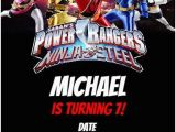 Personalized Power Rangers Birthday Invitations Power Rangers Ninja Steel Party Invitation Personalized