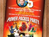 Personalized Power Rangers Birthday Invitations Power Rangers Samurai Birthday Invite by Cookiesandcreamshop