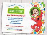 Personalized Sesame Street Birthday Invitations Elmo Photo Invitation Elmo Party Printable Invitation