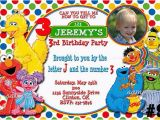 Personalized Sesame Street Birthday Invitations Free Printable Custom Sesame Street Birthday Invitations