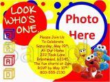 Personalized Sesame Street Birthday Invitations Sesame Street Babies Custom Photo First Birthday Invitation