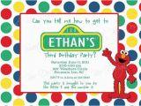 Personalized Sesame Street Birthday Invitations Sesame Street Birthday Invitation Custom Printable