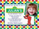 Personalized Sesame Street Birthday Invitations Sesame Street Elmo Birthday Invitation Printable Just