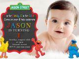 Personalized Sesame Street Birthday Invitations Sesame Street Elmo Birthday Invitations