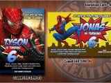 Personalized Spiderman Birthday Invitations Personalized Spiderman Printable Birthday Party Invitation