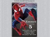 Personalized Spiderman Birthday Invitations Spiderman Invitation Personalized Spiderman by