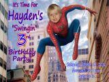 Personalized Spiderman Birthday Invitations Spiderman Personalized Photo Birthday Invitation 2012 1