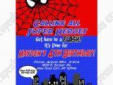 Personalized Spiderman Birthday Invitations Spiderman Printable Birthday Party Invitation Diy