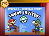 Personalized Super Mario Birthday Invitations 46 Best Custom Birthday Party Invitations Images On