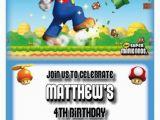 Personalized Super Mario Birthday Invitations Mario Birthday Party Invites Setof10 Super Mario Bros