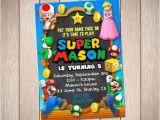 Personalized Super Mario Birthday Invitations Super Mario Birthday Invitation Card Mario Party Custom