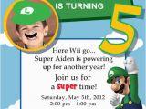 Personalized Super Mario Birthday Invitations Super Mario Birthday Party Super Mario Birthday Luigi