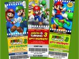 Personalized Super Mario Birthday Invitations Super Mario Bros Party Invitations Cimvitation