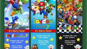 Personalized Super Mario Birthday Invitations Super Mario Brothers Birthday Invitation Tickets Mario