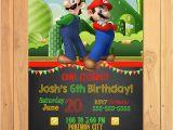 Personalized Super Mario Birthday Invitations Super Mario Brothers Invitation Chalkboard Super Mario