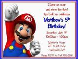 Personalized Super Mario Birthday Invitations Super Mario Brothers Personalized Birthday Invitations