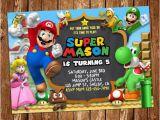 Personalized Super Mario Birthday Invitations Super Mario Invitation Super Mario Printable Invitation