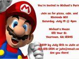 Personalized Super Mario Birthday Invitations Super Mario Invitations Personalized Party Invites