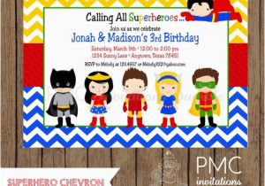 Personalized Superhero Birthday Invitations Custom Printed 1 00 Each With