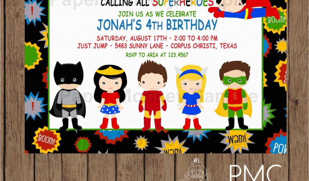 Download By SizeHandphone Tablet Desktop Original Size Back To Personalized Superhero Birthday Invitations