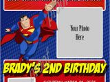 Personalized Superman Birthday Invitations Personalized Photo Invitations Cmartistry Superman