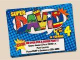 Personalized Superman Birthday Invitations Personalized Superhero Birthday Invitation Photo Optional