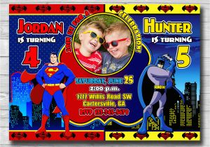96 Batman Personalized Birthday Invitations