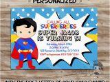 Personalized Superman Birthday Invitations Superman Birthday Invitation Personalized Superman Invite