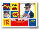 Personalized Superman Birthday Invitations Superman Birthday Invitation with Photo Printable Boy Girl