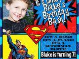 Personalized Superman Birthday Invitations Superman Birthday Invitations Invitation Librarry