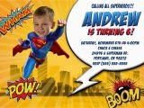 Personalized Superman Birthday Invitations Superman Birthday Invitations Kustom Kreations