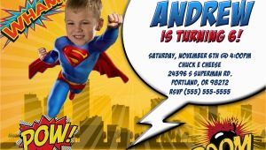 Personalized Superman Birthday Invitations Superman Birthday Invitations Kustom Kreations