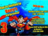 Personalized Superman Birthday Invitations Superman Invitations General Prints