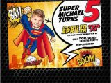 Personalized Superman Birthday Invitations Superman Printable Birthday Invitation by Monsterinvitations