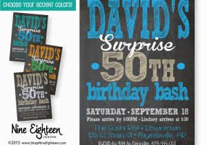 Personalized Surprise Birthday Invitations Party Invitation Adult Custom By