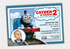 Personalized Thomas The Train Birthday Invitations 1000 Images About Party On Pinterest