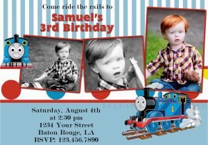 Personalized Thomas The Train Birthday Invitations Items Similar To Custom Invitation