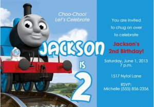 Personalized Thomas The Train Birthday Invitations Items Similar To Party