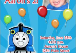Personalized Thomas The Train Birthday Invitations Custom Photo Invitation