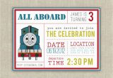 Personalized Thomas the Train Birthday Invitations Thomas the Train Personalized Birthday Invitations Best