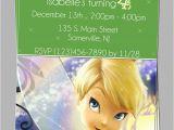 Personalized Tinkerbell Birthday Invitations Custom Tinkerbell Fairies Birthday Party Invitations Diy
