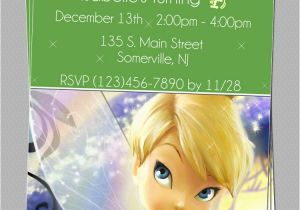 Personalized Tinkerbell Birthday Invitations Custom Tinkerbell Fairies Birthday Party Invitations Diy