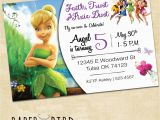 Personalized Tinkerbell Birthday Invitations Disney Fairies Custom Birthday Invitation Custom Invitation