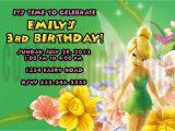 Personalized Tinkerbell Birthday Invitations Personalized Disney Tinkerbell Birthday Invitation Digital