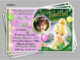 Personalized Tinkerbell Birthday Invitations Personalized Tinkerbell Birthday Party Invitations Diy